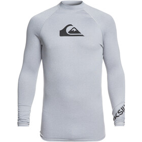 Quiksilver All Time Longsleeve Shirt Heren, light grey heather